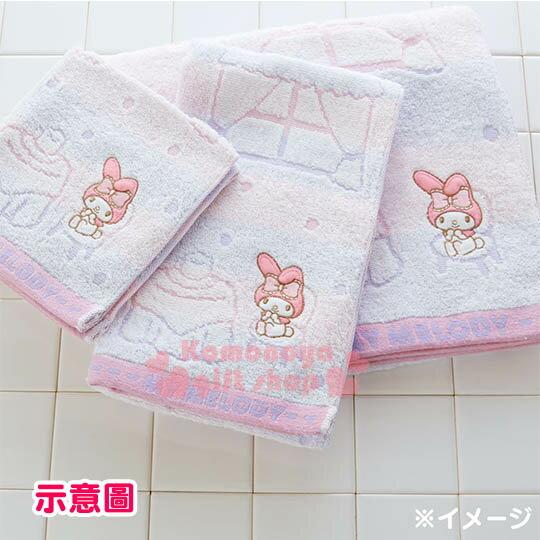 〔小禮堂〕美樂蒂 日製純棉大浴巾《粉紫.橫條.甜點.窗戶》今治毛巾 3