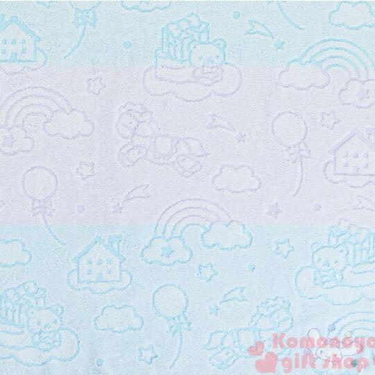 〔小禮堂〕大耳狗 日製純棉大浴巾《藍紫.木馬.彩虹.天空》今治毛巾 1