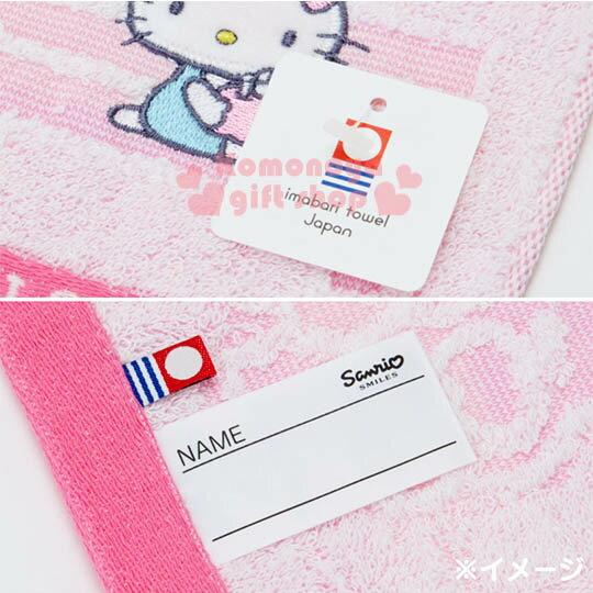 〔小禮堂〕Hello Kitty 日製純棉長毛巾《粉.戶外.房子.蘋果樹.坐長椅》今治毛巾 4