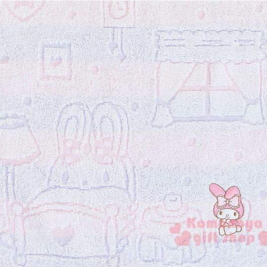 〔小禮堂〕美樂蒂 日製純棉長毛巾《粉紫.條紋.屋內.窗戶》今治毛巾 1