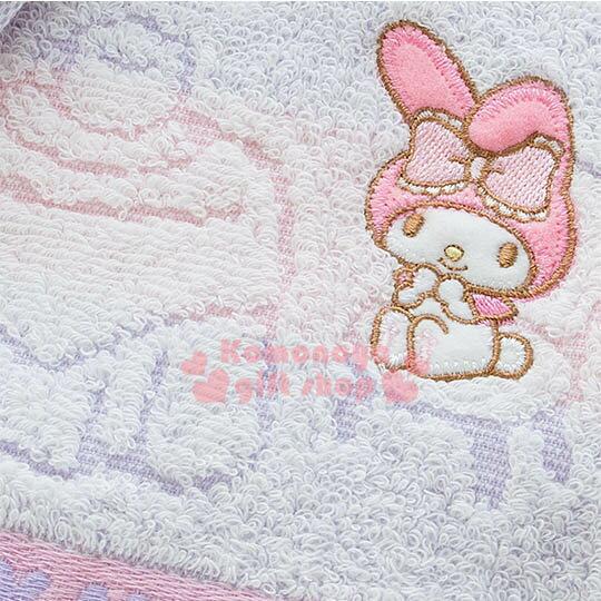 〔小禮堂〕美樂蒂 日製純棉長毛巾《粉紫.條紋.屋內.窗戶》今治毛巾 2