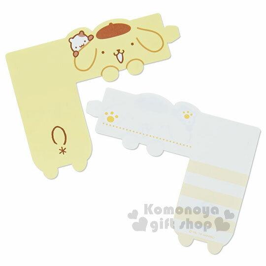 〔小禮堂〕布丁狗 日製可掛式便條紙《黃.小倉鼠.腳丫》 2