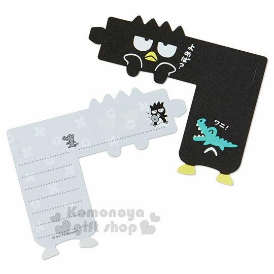〔小禮堂〕酷企鵝 日製可掛式便條紙《黑.灰點點.撐頭》 2