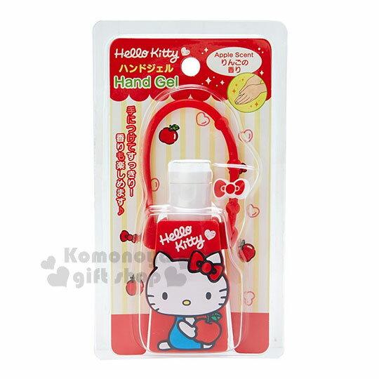 〔小禮堂〕Hello Kitty 乾洗手凝露《紅.側坐.拿蘋果》手部清潔 0