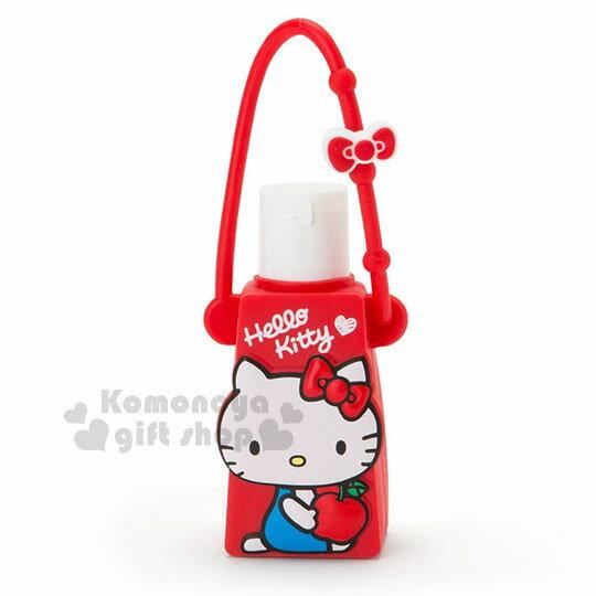 〔小禮堂〕Hello Kitty 乾洗手凝露《紅.側坐.拿蘋果》手部清潔 1