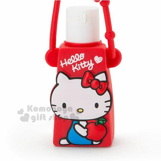 〔小禮堂〕Hello Kitty 乾洗手凝露《紅.側坐.拿蘋果》手部清潔 2