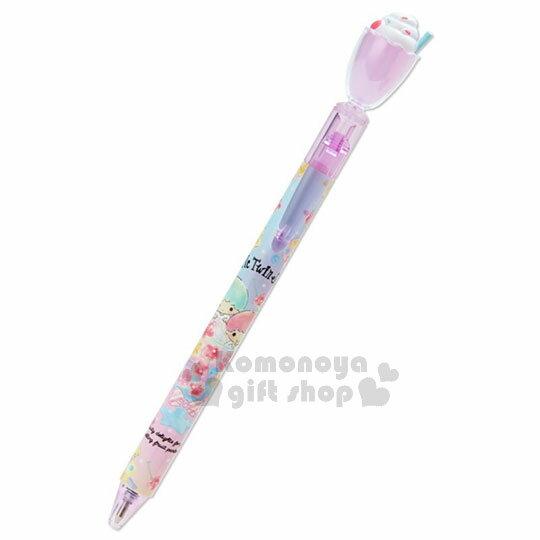 〔小禮堂〕雙子星 日製冰沙杯造型自動原子筆《粉紫》黑色墨水.水果文具系列 0