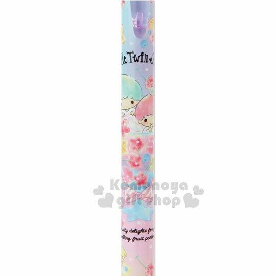 〔小禮堂〕雙子星 日製冰沙杯造型自動原子筆《粉紫》黑色墨水.水果文具系列 1