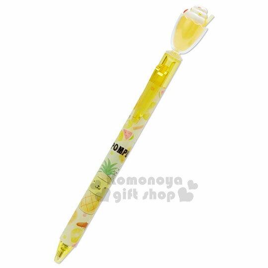 〔小禮堂〕布丁狗日製冰沙杯造型原子筆《黃》黑色墨水.水果文具系列