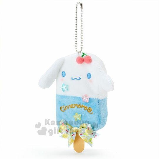 〔小禮堂〕大耳狗絨毛造型吊飾《白藍.奇異果.蝴蝶結.星星》水果文具系列