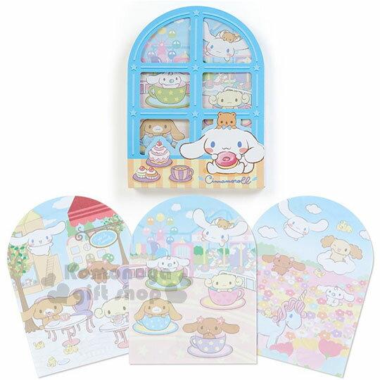 〔小禮堂〕大耳狗日製窗型便條本《藍.坐姿.甜點》3種圖案.便條紙