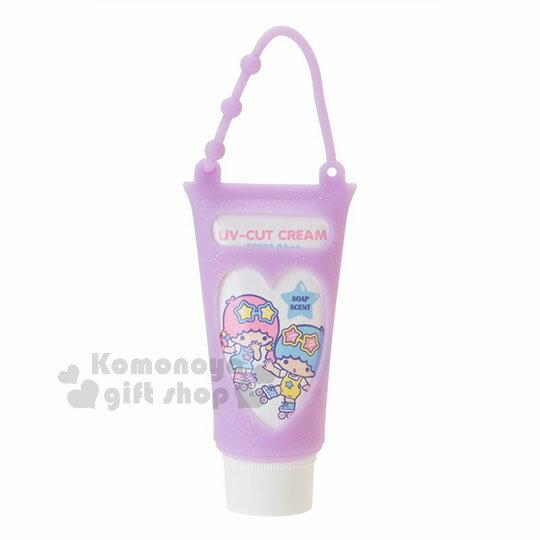 〔小禮堂〕雙子星日製UV防曬乳《紫.溜直排輪.運動風》附矽膠提袋.沐浴香