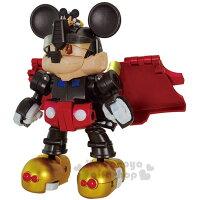 〔小禮堂〕迪士尼 米奇 TAKARA TOMY變形金剛《黑紅金.貨車》經典造型.自由組裝