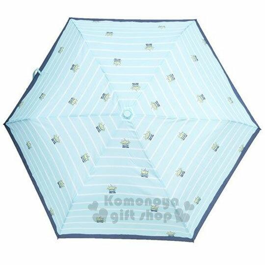 〔小禮堂〕迪士尼三眼怪晴雨兩用折疊傘《藍綠.三眼怪.條紋》折傘.晴雨兩用