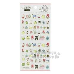 〔小禮堂〕Sanrio大集合 造型貼紙組《白.角色集合.燙金》