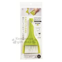 〔小禮堂〕KOKUBO小久保工業所 日製迷你掃把畚箕組《綠.白刷毛》桌面型