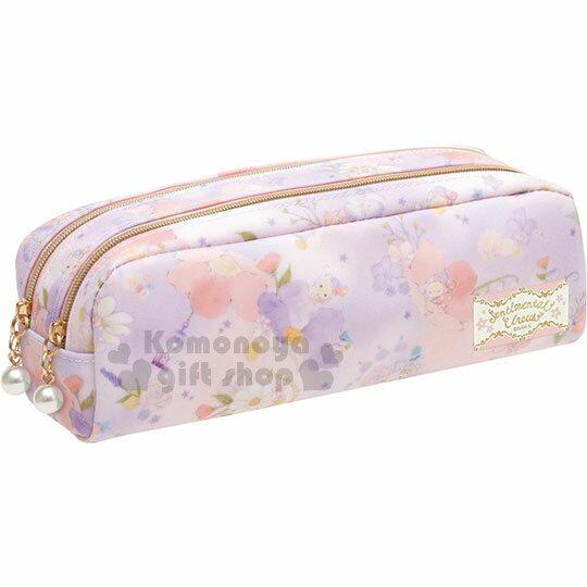 〔小禮堂〕憂傷馬戲團 防水拉鍊筆袋《粉紫.渲染.花卉.多角色》 0