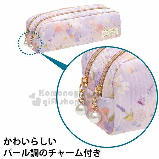 〔小禮堂〕憂傷馬戲團 防水拉鍊筆袋《粉紫.渲染.花卉.多角色》 1