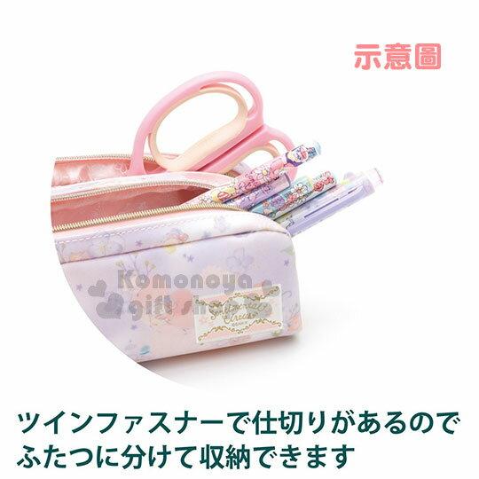 〔小禮堂〕憂傷馬戲團 防水拉鍊筆袋《粉紫.渲染.花卉.多角色》 2