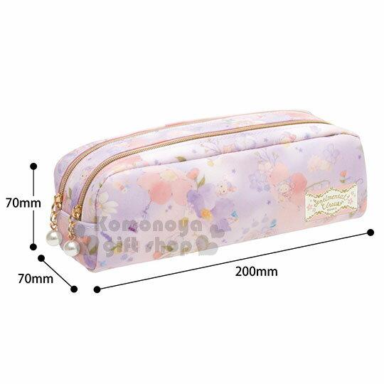 〔小禮堂〕憂傷馬戲團 防水拉鍊筆袋《粉紫.渲染.花卉.多角色》 3