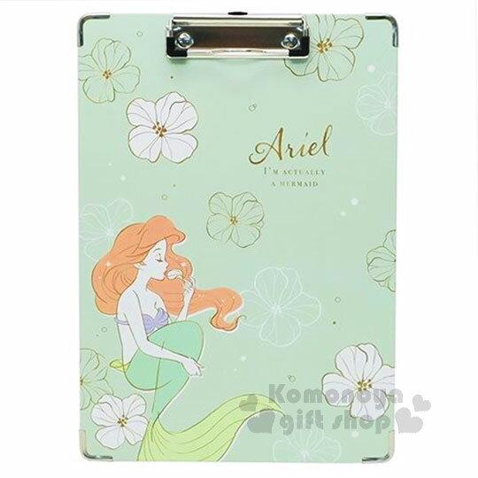 〔小禮堂〕迪士尼小美人魚愛麗兒文件夾板《A4.綠.花.手繪》板夾