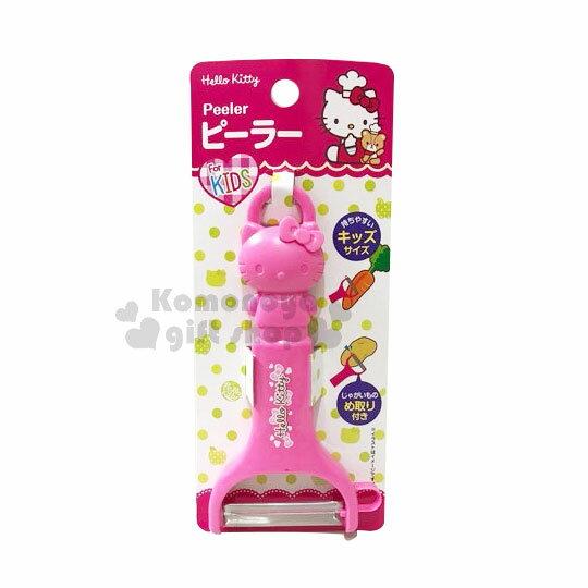 【領券折$30】小禮堂 Hello Kitty 造型削皮器《桃.站立》削皮刀.皮引.銅板小物