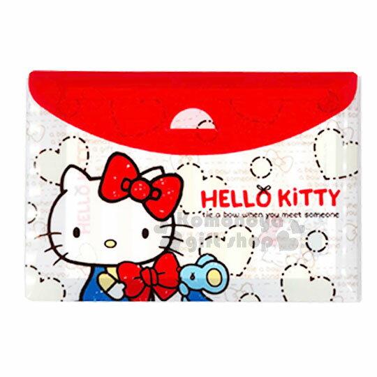 〔小禮堂〕Hello Kitty 信紙組合包《米紅.愛心.老鼠.蝴蝶結》便條紙.附收納包