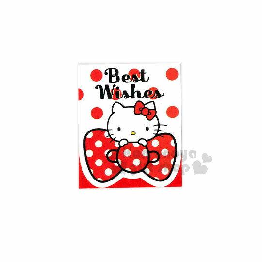 〔小禮堂〕HelloKitty生日小卡片《紅白.點點.趴蝴蝶結》送禮卡.祝賀卡