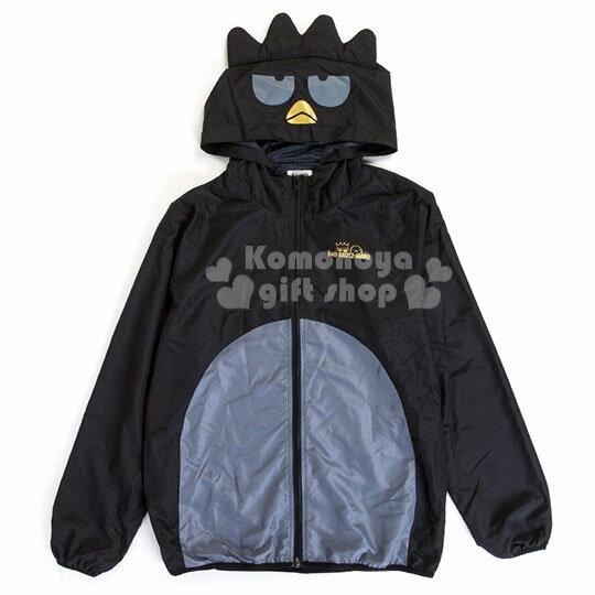 〔小礼堂〕酷企鹅 造型尼龙连帽外套《黑灰.LOGO》防风外套.国王企鹅系列