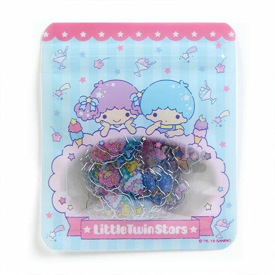 〔小禮堂〕雙子星造型透明貼紙組《藍粉.趴在雲上.星星》裝飾禮物.夾鏈袋