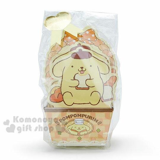 〔小禮堂〕布丁狗日製造型便條紙附紙盒《黃.坐姿.吃吐司》