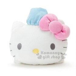 〔小禮堂〕Hello Kitty 造型靠墊抱枕《粉白.藍帽子.趴姿》靠枕.玩偶