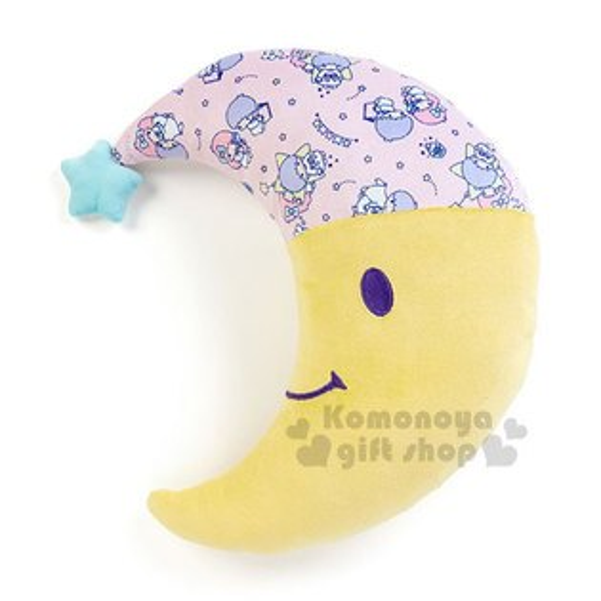〔小禮堂〕雙子星月亮造型靠墊抱枕《黃粉.星星.滿版》靠枕.玩偶