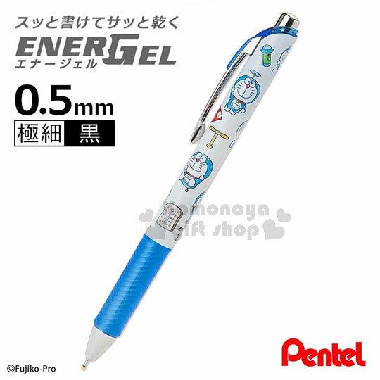 〔小禮堂〕哆啦A夢 日製原子筆《藍白.道具.竹蜻蜓》0.5mm.黑色墨水.Pentel EnerGel 系列