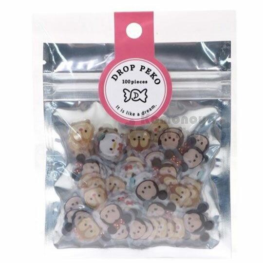 〔小禮堂〕迪士尼TsumTsum立體造型貼紙組《5款入.大臉》附夾鏈袋