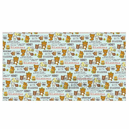 〔小禮堂〕拉拉熊懶懶熊野餐墊《M.綠.速食.滿版》100x180cm.2-3人用尺寸