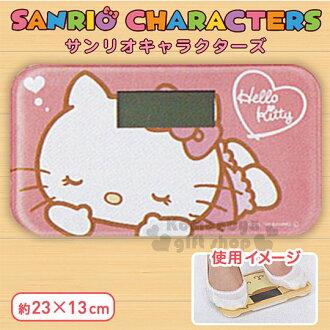 〔小禮堂〕Hello Kitty 電子體重計《S.粉.趴姿.閉眼》長方型玻璃踏板.體重機