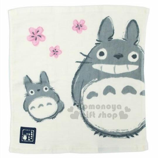 〔小禮堂〕宮崎駿 Totoro龍貓 紗布方型毛巾《米.站姿.微笑》34x36cm 0