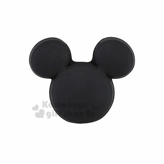 〔小禮堂〕迪士尼米奇造型傳輸線保護套《黑.臉型》USB線套