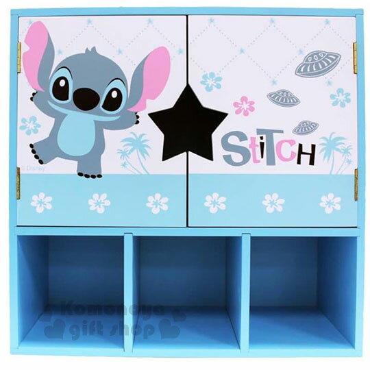 〔小禮堂〕史迪奇拉門收納櫃《L.站姿.舉手.花朵》木製櫃