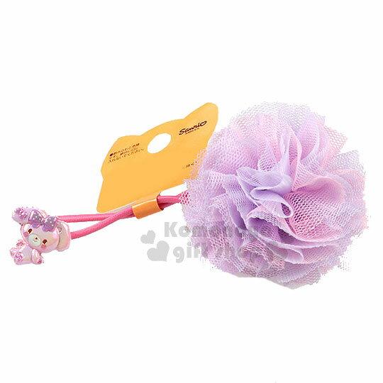 〔小禮堂〕蹦蹦兔紗球造型彈力髮束《紫.坐姿》髮圈.髮飾