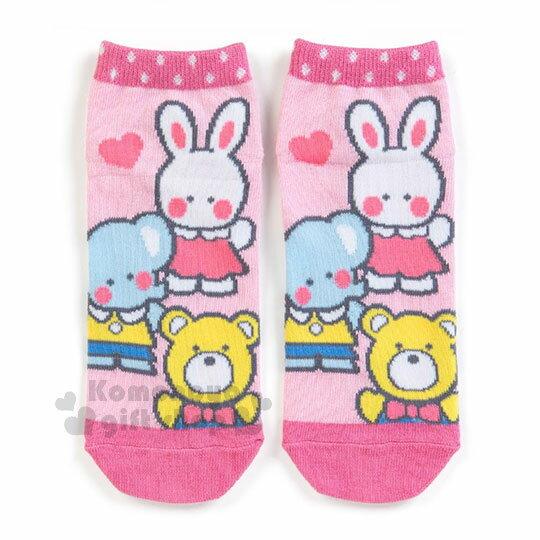 〔小禮堂〕凱莉兔成人及踝襪《粉.站姿.朋友》短襪.隱形襪.23-25公分