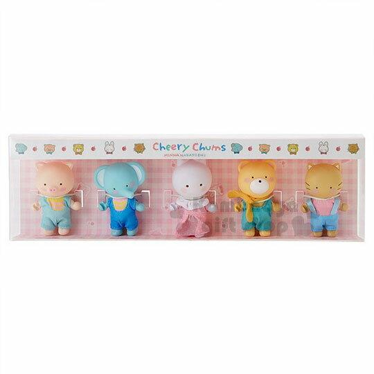 〔小禮堂〕凱莉兔玩偶公仔組《5入.朋友.站姿.盒裝》擺飾.模型.童話花園系列