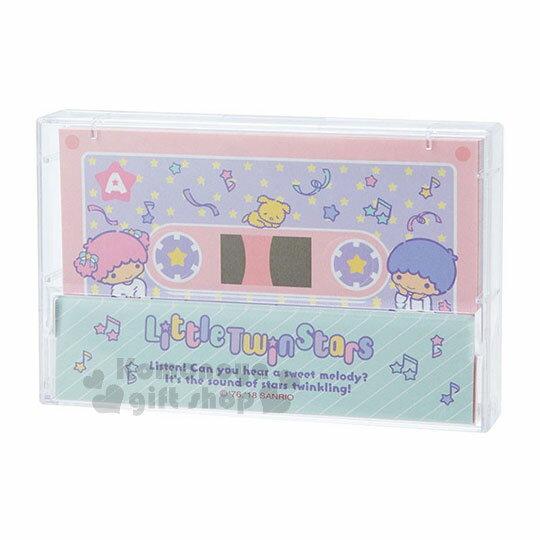 〔小禮堂〕雙子星 日製錄音帶造型便條紙《粉綠.星星》2種圖案.80張 0