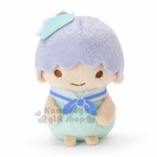 〔小禮堂〕雙子星KIKI絨毛玩偶娃娃《S.藍綠.水手服.站姿》擺飾品