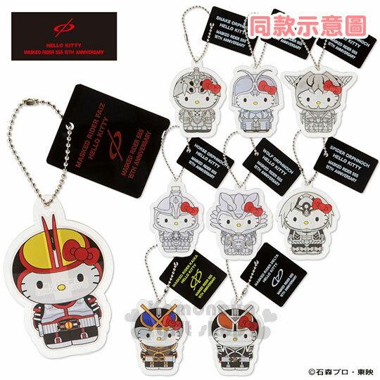 〔小禮堂〕Hello Kitty x 假面騎士555 造型鑰匙圈《站姿.橘紫盔甲》吊飾.掛飾 1