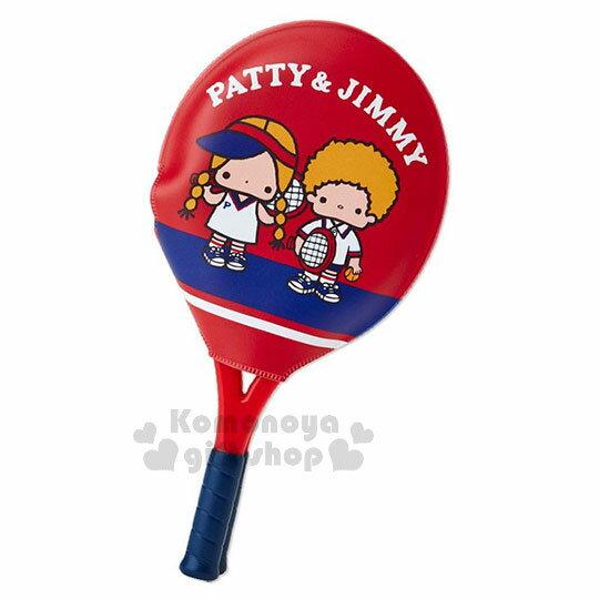 〔小禮堂〕Patty&Jimmy球拍造型扣式鏡梳組《紅藍》復古網球系列