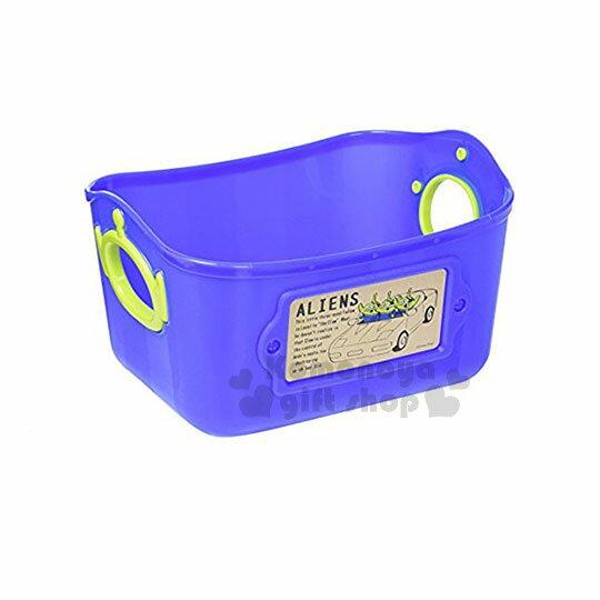 〔小禮堂〕迪士尼三眼怪日製軟式收納盒《L.紫藍》2.5L