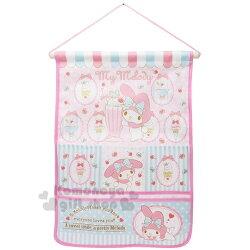〔小禮堂〕美樂蒂 尼龍壁掛收納袋《粉黃.冰淇淋.櫻桃》置物袋