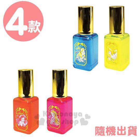 〔小禮堂〕迪士尼公主指甲油造型螢光筆組《4入.橘粉藍黃.金蓋》彩色筆